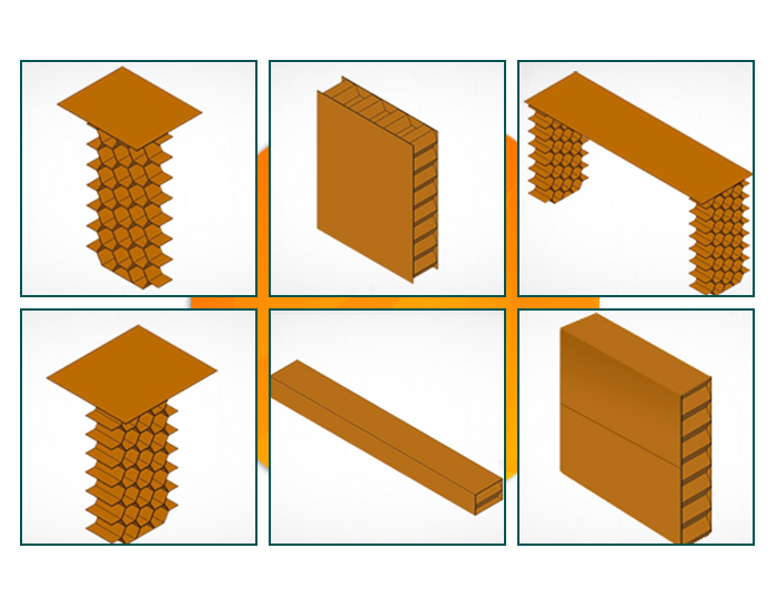 Void-fillers for filling gaps between pallets in containers